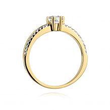 Małe zdjęcie Pierścionek złoto i brylantowy pasek