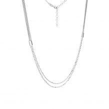 Naszyjnik srebrny podwójny