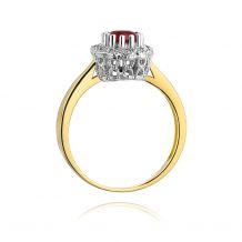 Małe zdjęcie Okrągły pierścionek z rubinem  0,60 ct