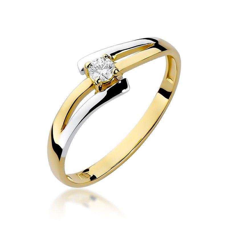 Pierścionek dwuczęściowy ze złota