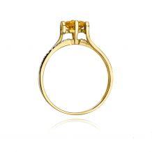 Małe zdjęcie Pierścionek zaręczynowy z cytrynem