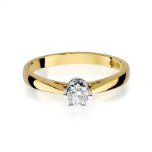 Małe zdjęcie Pierścionek zaręczynowy klasyczny z brylantem 0,25 ct H/Si