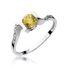 Pierścionek białe złoto z...