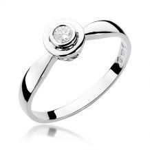Pierścionek okrągły brylant...