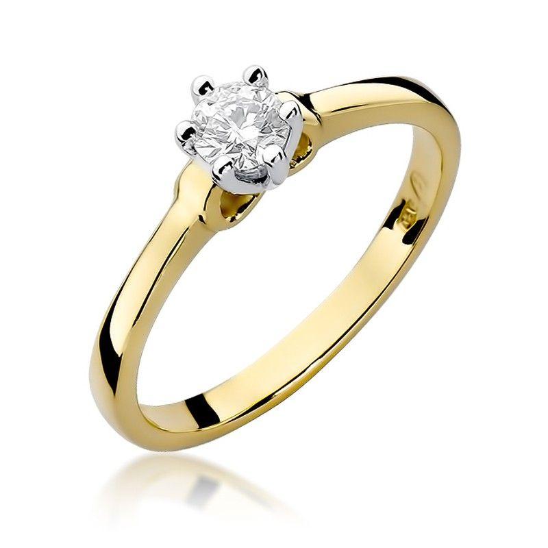 Pierścionek zaręczynowy z brylantem 0,25 ct H/Si